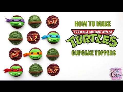Teenage Mutant Ninja Turtles Cupcake Toppers FUN HOW TO!
