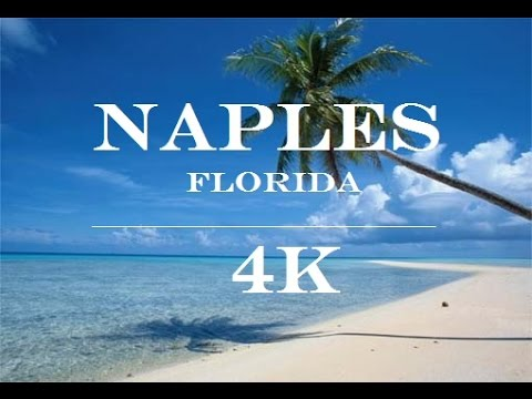 Aerial view of Naples Florida 4k