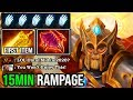WTF 15MIN RAMPAGE Solo Mid Omniknight First Item Radiance 100 Destroyed Everyone 723f DotA 2
