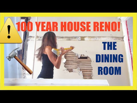 100 YEAR OLD HOUSE RENO! THE DINING ROOM! | VLOGTOBER DAY 11