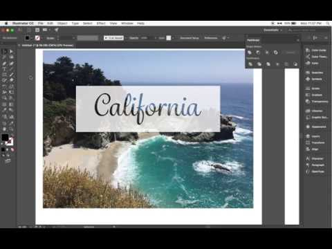 Adobe Illustrator Tutorial: Knockout Text with Pathfinder