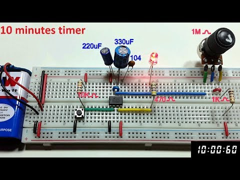 10 minutes Variable Monostable multivibrator using 555 timer in Tamil & English,tamil electronics
