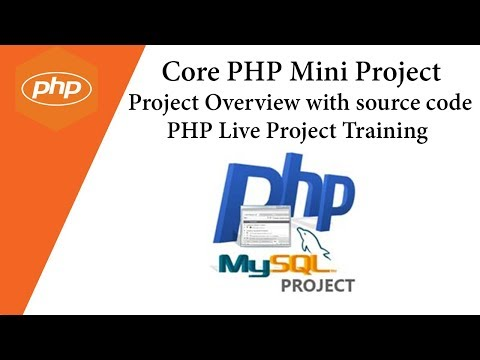 Core PHP 💡 Mini Project 💡 Project Overview with source code 💡 PHP Live Project Training 💡