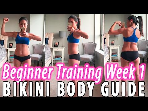 Kayla Itsines Bikini Body Guide (BBG) /Sweat with Kayla   Beginner Training Week 1