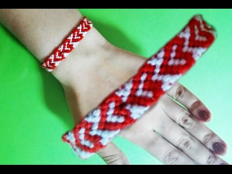 DIY Heart Friendship Bracelets, super cute bracelet! :)