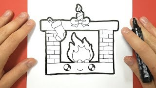 HOW TO DRAW A CHRISTMAS CHIMNEY CUTE AND EASY