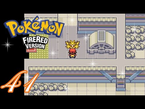 Pokemon FireRed Complete Walkthrough - Part 41: Zapdos (Power Plant) (HD 1080p)