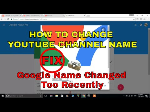 Google Name Changed Too Recently Fix