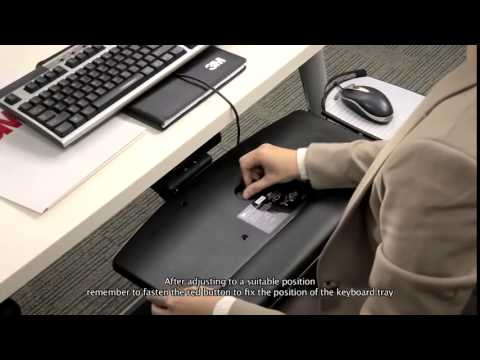 3M AKT150LE Adjustable Keyboard Tray