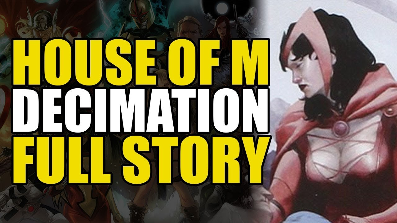 Scarlet Witch Eliminates All The Mutants (X-Men: Decimation Full Story)