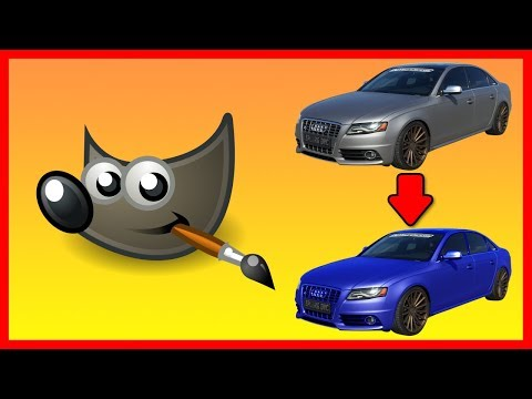 How to replace / change an object color in Gimp - Tutorial