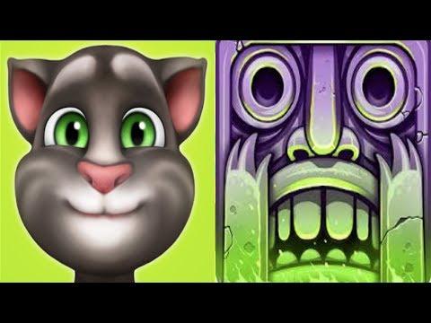 My Talking Tom DRAGON FUR Level 800 vs.Temple Run 2*iPadGameplay make for children #164