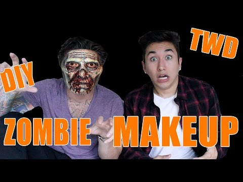 DIY The Walking Dead Zombie Halloween Makeup tutorial (ft. ScottySire) | Brennen Taylor