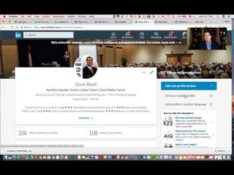 LinkedIn - Edit public profile URL