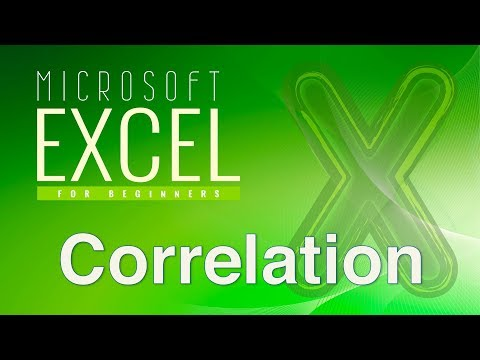 Excel for Statistics 6--Correlations
