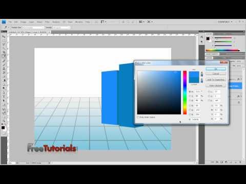 Make 3D Graph in Photoshop Urdu Tutorial