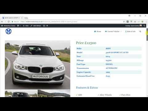 Websites For UK Car Dealers - VRM Lookup - Motorious Demo