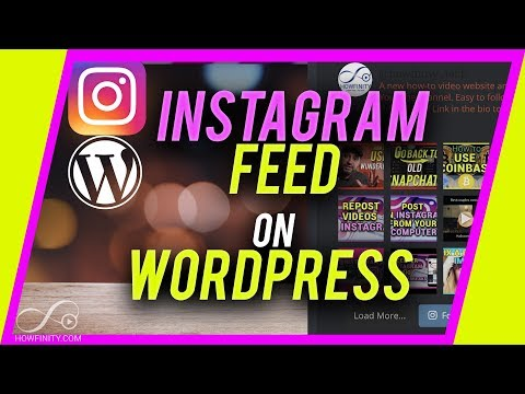 How to get a INSTAGRAM feed on a WORDPRESS Website