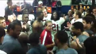 Alabama Locker Room Celebration after Victory Over Florida