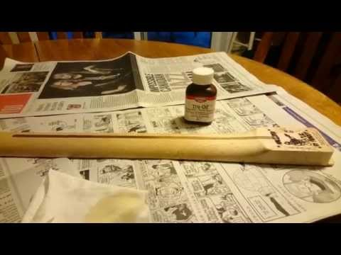 Finishing a Maple Guitar Neck with Tru Oil -  Part 1
