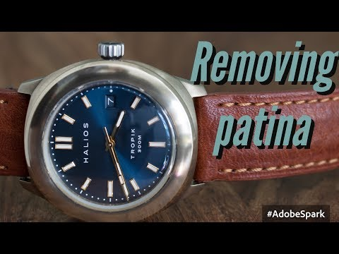 How to remove patina from a bronze watch