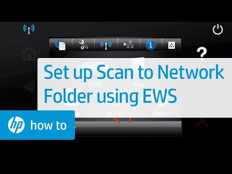 Set up Scan to Network Folder using HP Embedded Web Server (EWS)
