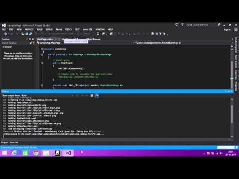 simple  basic windows8 phone application tutorial by chakri king maker