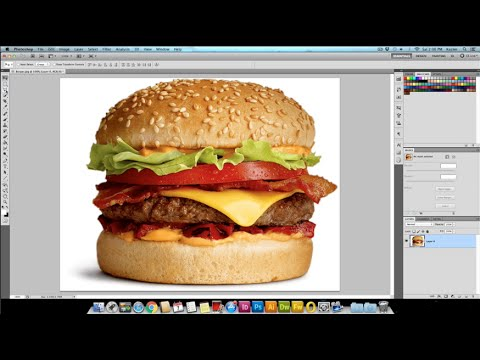 Making an image background transparent in Photoshop CS5