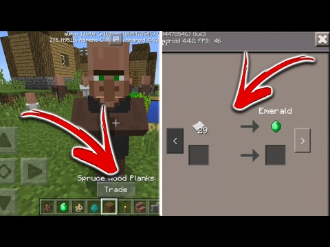 Mcpe 1.0.4.0 Beta Update//Download APK Right Now//Villager Trading!!!