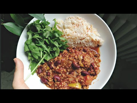 WHAT I ATE TODAY | CHILLI RECIPE WITH SOYA MINCE!