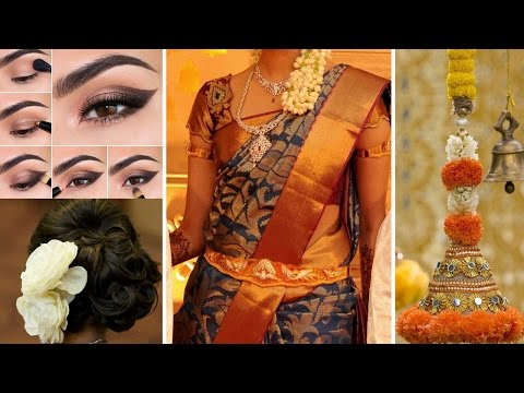 Xxx Mp4 💄South Indian Bridal Saree Makeup And Hairstyle Step By Step Traditional Bridal Makeup Tips DIY 3gp Sex