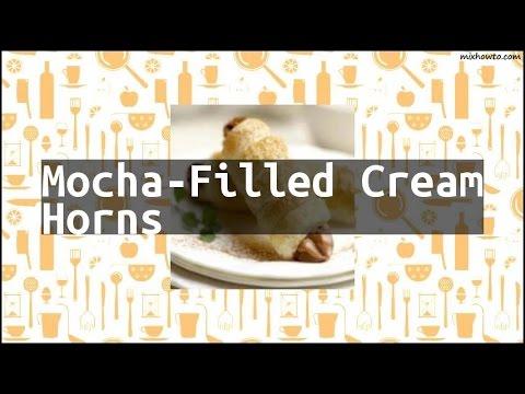 Recipe Mocha-Filled Cream Horns