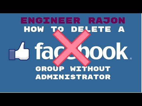 how to delete a facebook group without administrator