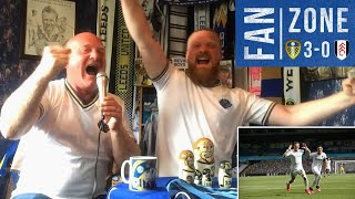 WHAT A PASS FROM PABLO!!! Fan Zone at home! | Leeds United 3-0 Fulham