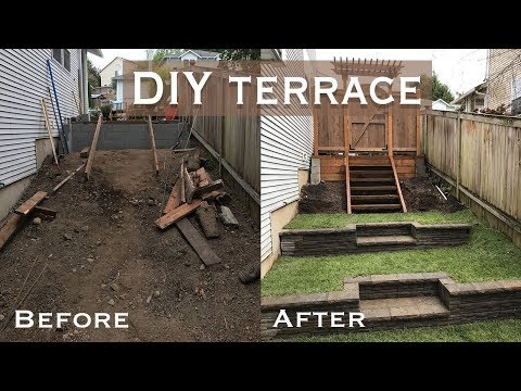 DIY yard ideas: How to build a stone terrace wall yourself