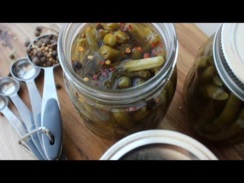 Canning Recipe - Sweet & Spicy Pickled Green Beans