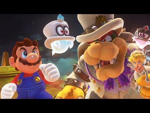 Super Mario Odyssey - Walkthrough Part 13 - Bowser's Kingdom All Moons & Coins