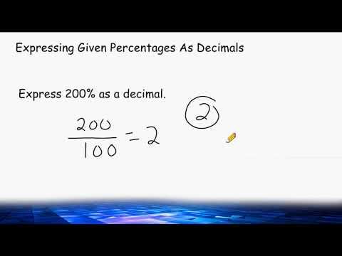 Converting Percents To Decimals And Decimals To Percents