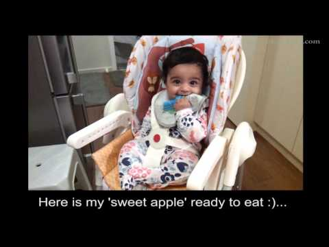 Apple Puree - Fruit purees for 6 months baby - stage 1 baby food recipes