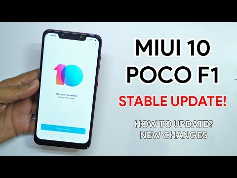 MIUI 10 stable update for POCO F1! New changes, Comparison with MIUI 9.