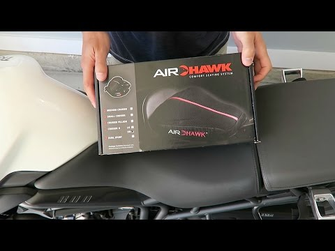 NEW Air Hawk Motorcycle Seat Cushion Review and Install