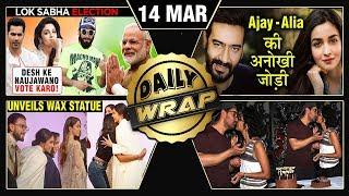 Deepika Wax Statue, Alia South Film Debut, Ranbir - Deepika Filmfare 2019 | Top 10 News