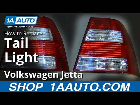 How To Install Replace Taillight Change Bulb 2004-07 VW Volkwagen Jetta