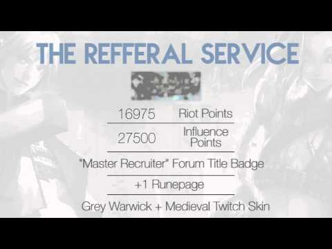 Cheap Riot Points - LoL Referral Service - Free Riot Points Giveaway