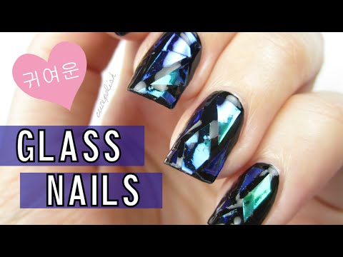 DIY Shattered Glass Nails [Korea Trend]