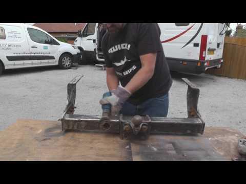 Camper Van Self Build - Fitting A Tow Bar
