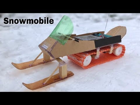 How to Make RC Snowmobile at Home - Amazing Remote Controlled Car