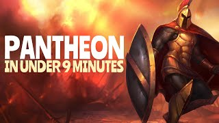 SEASON 10 COMPLETE PANTHEON GUIDE - How to carry with Pantheon in UNDER 9 MINS - Pantheon Tutorial