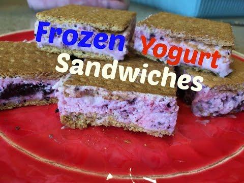 Frozen Yogurt Sandwiches