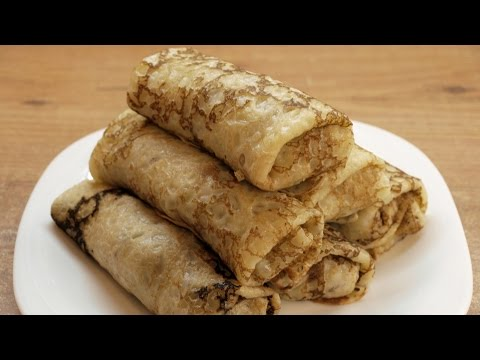 Блинчики с мясом / Minced meat-stuffed pancakes ♡ English subtitles